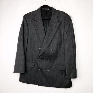 BURBERRY Black Pinstripe Sport Coat Blazer EUC 42R